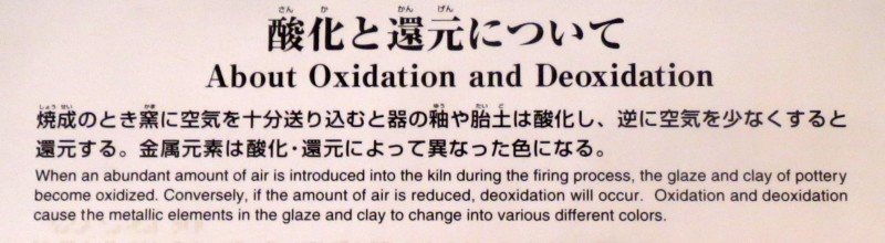 About Oxidation and Deoxidation
